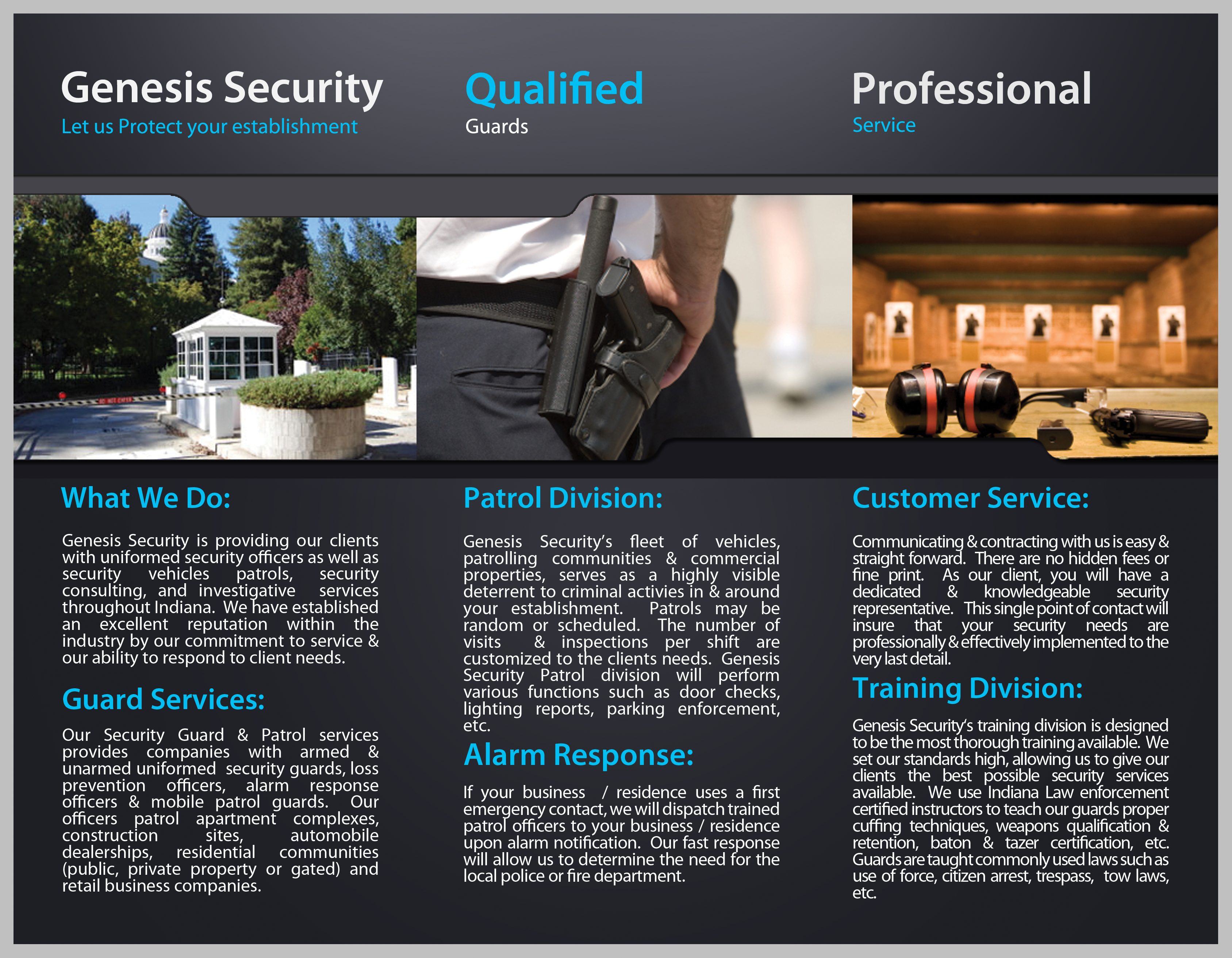 Resources genesis security for Security company brochure template